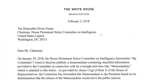 RELEASED:  House Intelligence Committee Memo On FISA Abuse (pdf)